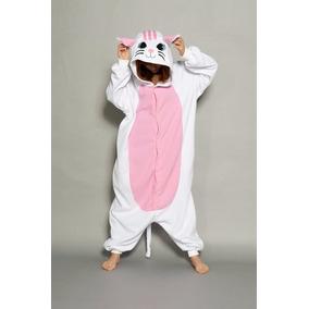 Pijama Tierna Adulto Unisex Cosplay Costume Animal Gato Blan 23a9a44d8d8e