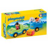 Playmobil 6958 - 123 Auto Con Remolque Y Caballo