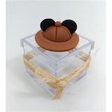 Mickey Safari Caixa Acrílica C/ Biscuit - 10 Unidades