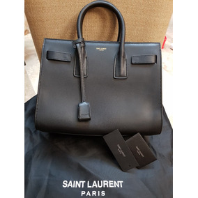 Bolsa Ysl Yves Saint Laurent Maletin Color Negra Hermosa!!!