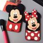 Capa Iphone 5, 6 3d Minnie Mickey Disney Silicone + Pelicula