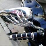 Espejos Retrovisores Calavera Moto Chopper