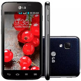 Smartphone Lg Dual Optimus E-455 L-5 Ii - Branco E Preto