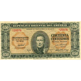 Billete De Cincuenta Centesimos Del Uruguay 1.939