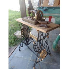 Pe De Maquina De Costura Antigo Singer Sapinho/aranha Leia