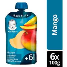 Compota Gerber® Mango Pouch 100g X6