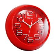 Reloj De Pared Rojo 26 Cm An-ro