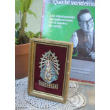 Antiguo Cuadro 12xm Virgen De Lujan Peltre Año 50 (5916)