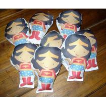30 Souvenirs Mujer Maravilla Muñeca 15cm Personaje Wonderwom