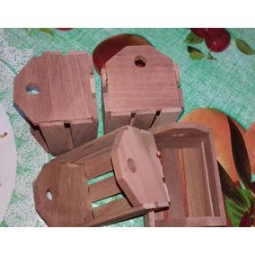 Caixote De Feira Em Miniatura - Madeira Reciclável