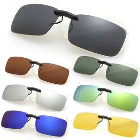 Lentes Óculos Clip On Discreto Polarizado Proteção U V 400