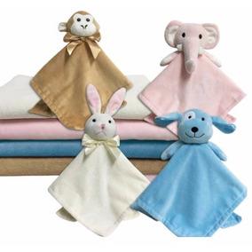 Kit Manta E Naninha Para Bebê Menino Menina Bichos Rosa Azul