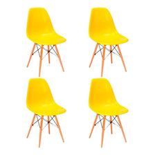 Cadeira Eiffel Design Charles Eames - Kit C/ 4 -várias Cores
