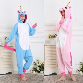 Pijama Mameluco Unicornio Azul Morado Rosa/4 Tallas