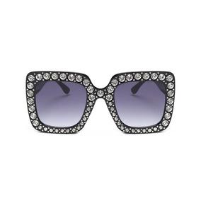 Lentes De Mujer Brillos Cuadrados Grandes Diamantes Glitter