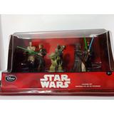 Set De 6 Figuras Jedi Star Wars 10 Cms Disney Store Original