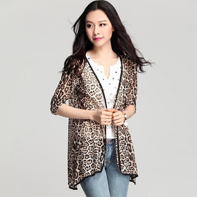 Suéter Mujer Sencillo Ligero Animal Print Moda Lindo Juvenil