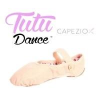 Zapatillas De Media Punta Love Ballet Cuero Color Piel Niñas