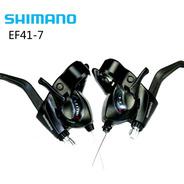 Par De Shifters Integrados Shimano Ez Fire  Ef41 -  3x7 Vel.