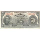 Billete De 50 Bs Marzo 11, 1960 - Serie H7
