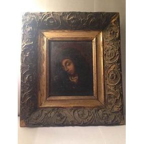 Antiguo Cuadro Oleo Religioso Virgen Arte Sacro Siglo Xviii