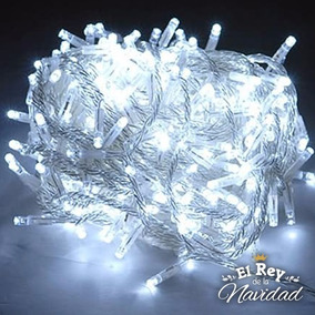 Guirnalda 9 Metros Luces Navidad Led X100 Blanco Frio A 220v