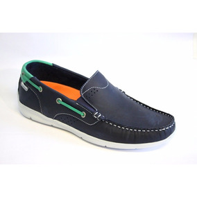 Zapatos Nauticos Pataugas De Nobuck Nicanor Azul