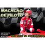 Macacão Infantil De Piloto F1 Carros Festa Aniverssário