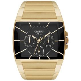 Relógio Orient Masculino Ggssm001 P1kx Dourado Ouro Nf
