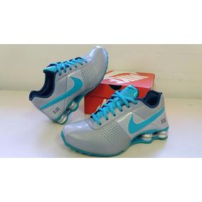 Tenis Nike Shox Deliver 317549 Feminino Cinza E Verde