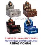 Seda Smoking Grande Preta Brown Prata Azul Verm Caixa C/ 50