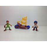 Jake Y Los Piratas Y Peter Pan Barco Set De Fig. Orig. Nuevo