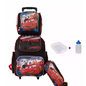 Kit Mochila Infantil Escolar Mcqueen Original Carros 2018 Ch
