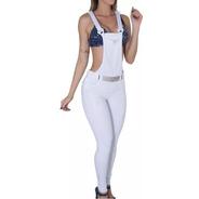Calça Jardineira Pitbull Jeans Pit Bull Bojo Modela Bumbum