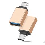 Adaptador Otg Usb Tipo C 3.1 Macho A Usb Aluminio Pendrive