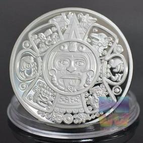 Moneda De Colección Maya Baño En Plata 1 Onza