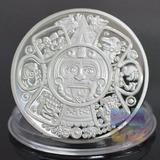 Moneda De Colección Azteca Maya Baño En Plata 1 Onza