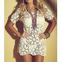 Vestido Crochê Saída De Praia Personalizada 100% Feito A Mão