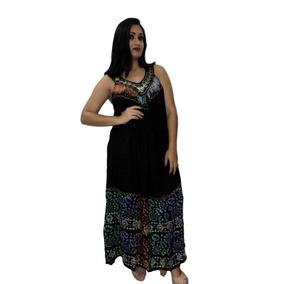 Vestido Longo Indiano! Moda Boho Hippie Chick Plus Size Gg