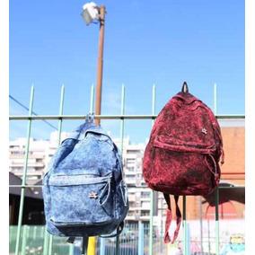 Mochila De Jean Batik Blue, Red, Black Oferta Antes590