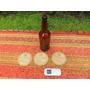 Botellas Réplica Antiguas Cervecería Quilmes Y 3 Posa Vasos