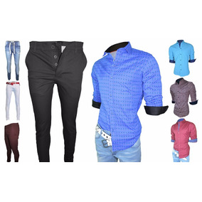 Envio Gratis!! - Chupin Jean/gabardina + Camisa M/larga