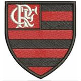 Escudo Do Flamengo Patch Bordado Termocolante 8 Cm.