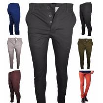 Envio Gratis!!! Pack De 2 Pantalónes Chupin De Gabardina
