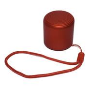 Caixa Som Bluetooth Tws Silicone Mini Speaker 3w Vermelho