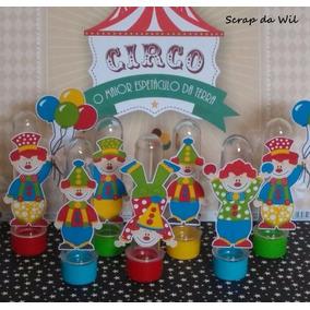 Tubetes Palhaços Circo ( Kit Com 12 Unid.)