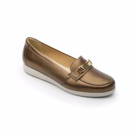 Zapato Confort Flexi Dama 45301 Cafe Bronce Mujer Mocasin