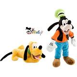 Conjunto De Muñecas De Felpa Disney Goofy Y Pluto