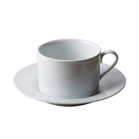 Xicaras Cha Porcelana Branca 220ml 12pcs Casa Ambiente
