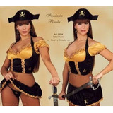 Traje Disfraz Lencería Conjunto Sexy Fantasia Pirata
